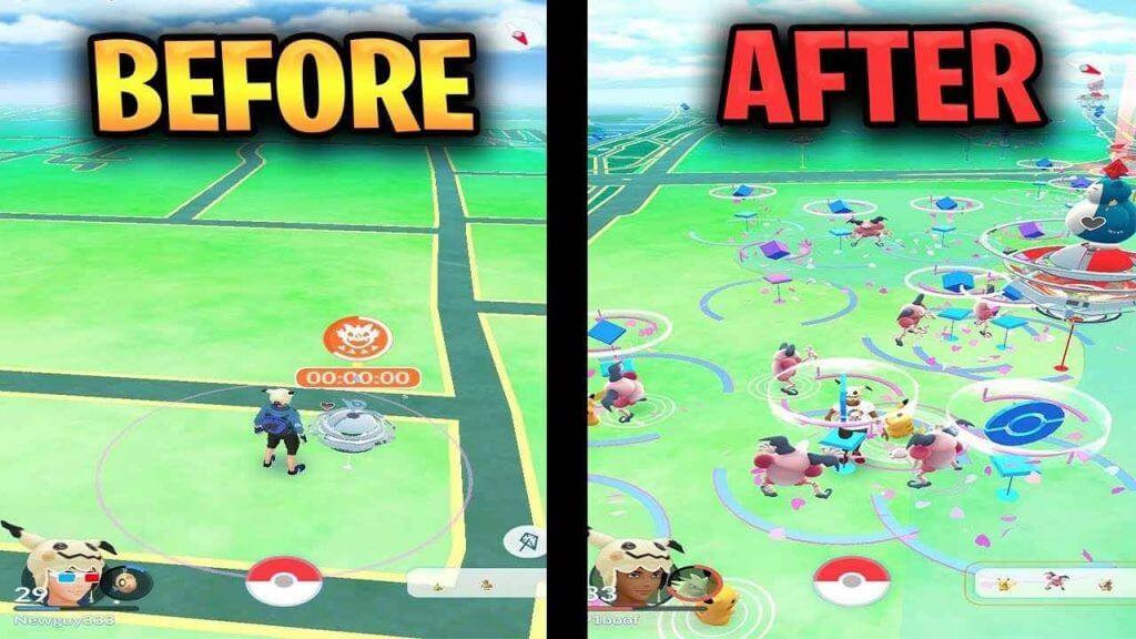 Nach dem Fälschen der Position in Pokémon GO