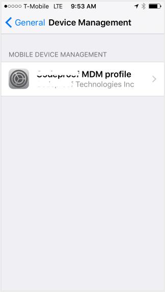 select to remove mdm file