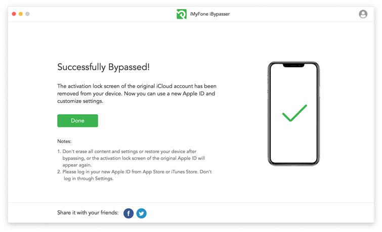Erfolgreich entfernen der iCloud-Sperre