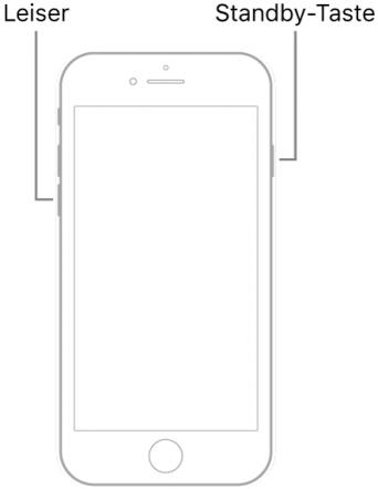 Neustart des iPhone 7 erzwingen
