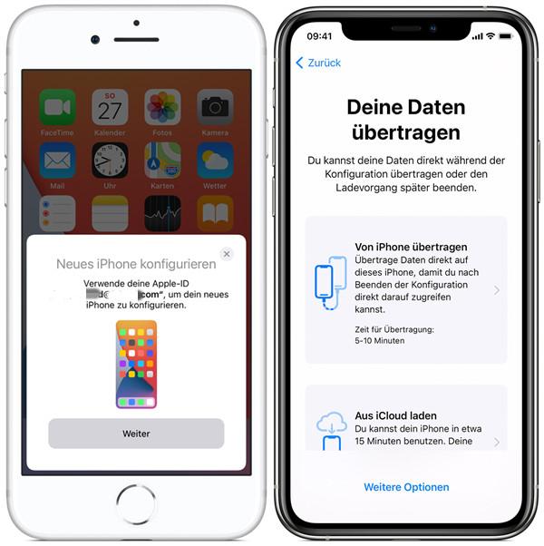 neues iPhone mit Schnellstart einrichten