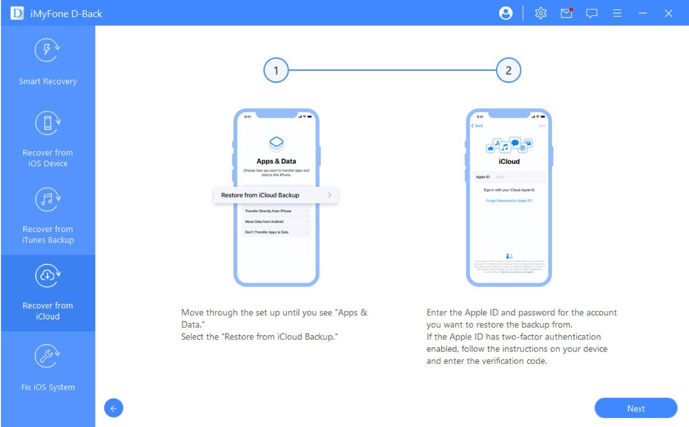 Vom iCloud-Backup wiederherstellen