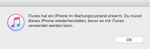 iPhone in den Widerherstellungsmodus versetzen