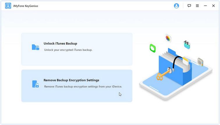 remove iphone backup encryption settings