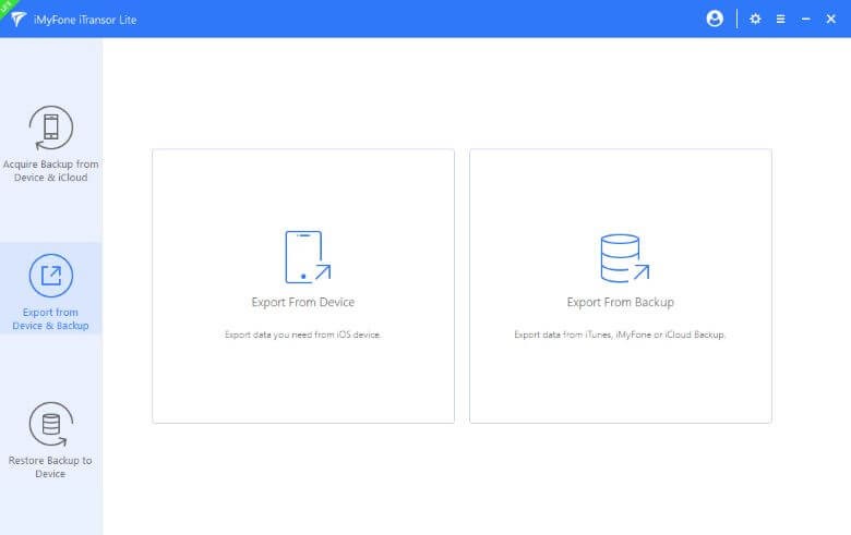 export data from backup