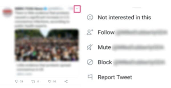 block someone from a tweet