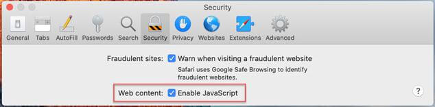 check if JavaScript is enabled