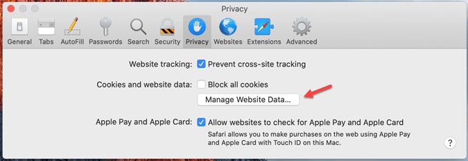 clear Safari cache and cookies Mac