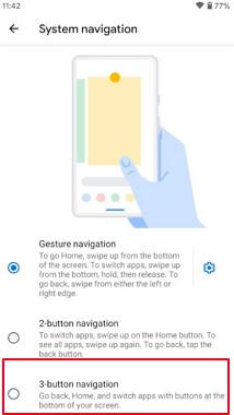 enable 3-button navigation