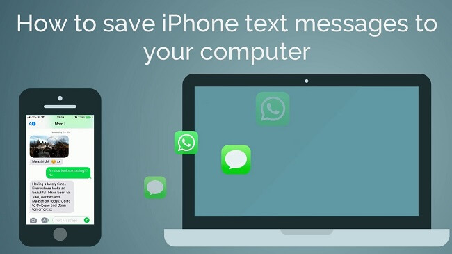 free way to save iphone text message