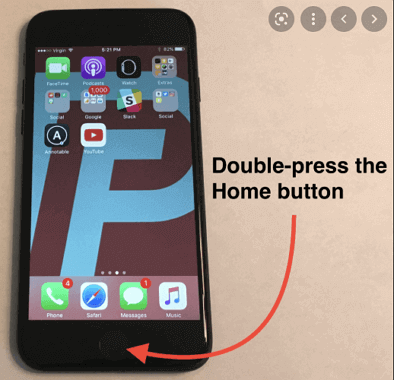 get rid of orange dot on iPhone with home button