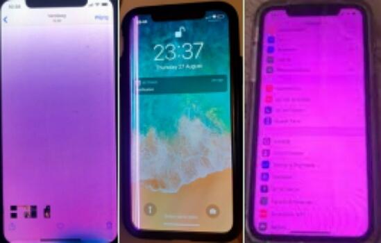 iPhone purple screen, purple lines and purple tint