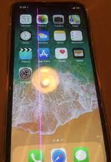 pink line on iPhone screen