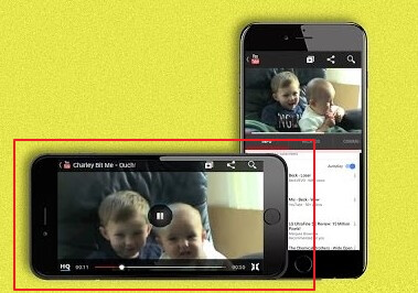 play the video in landscape mode on YouTube