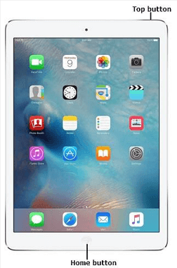 restart iPad with a Home button