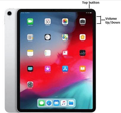 restart iPad without an a Home button