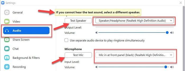 test mic
