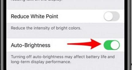 turn on auto brightness