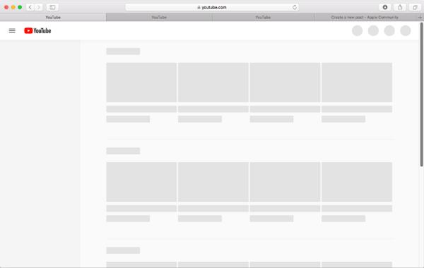 YouTube not working on Safari