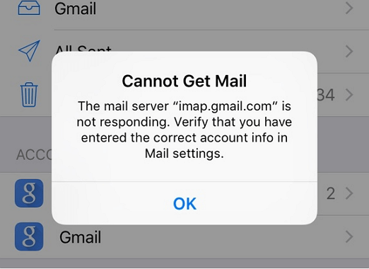 cannot get Gmail