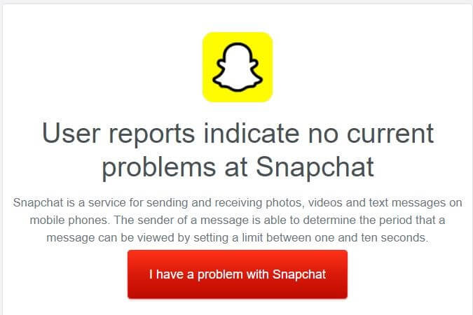 check if snapchat is down