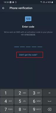 don't get the code Telegram