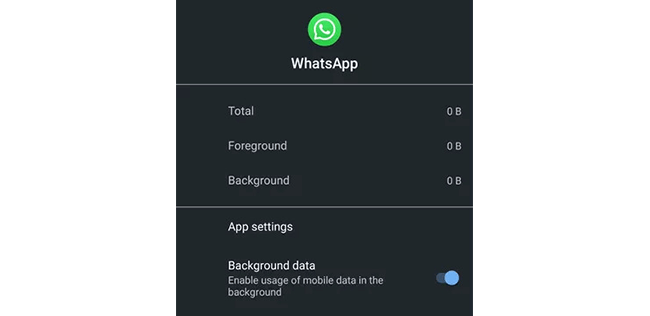 enable background data on Android