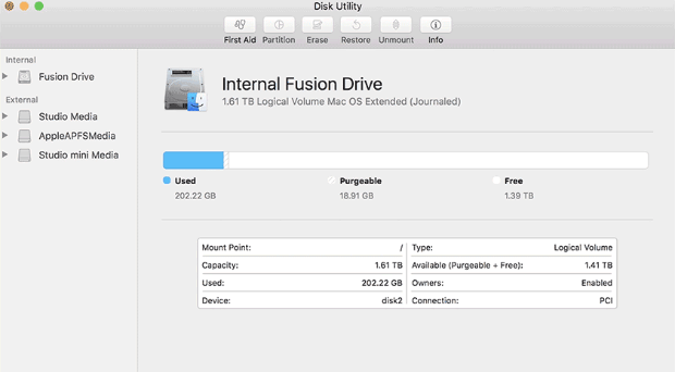 format the disk on Mac