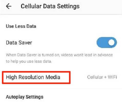 high resolution media