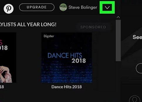 log out Spotify on computers