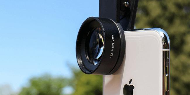 use external macro lenses on iPhone