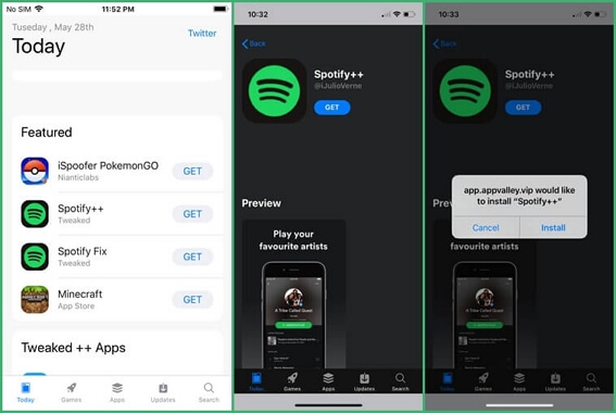 reinstall the Spotify App on iPhone