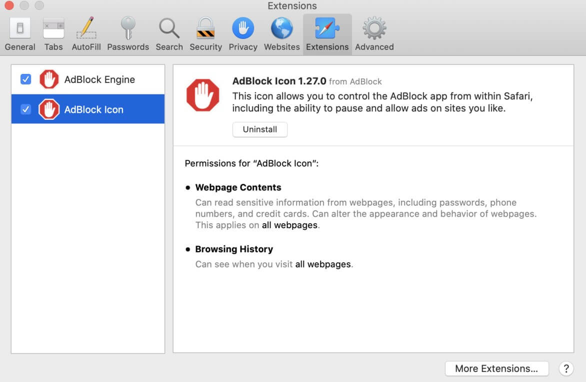 turn off and reopen AdBlock extension on Safari