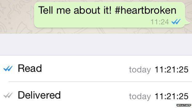 WhatsApp blue ticks