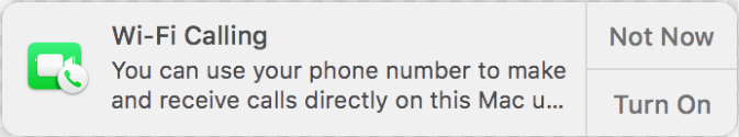 Wi-Fi calling notification keeps popping up