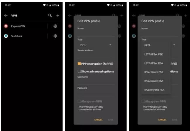 Vpn app for smartphone set up