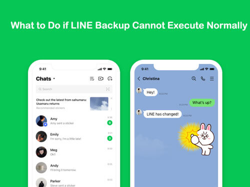 line cannot backup