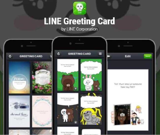 line greeting card download
