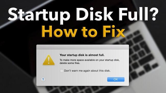 fix startup disk full problem