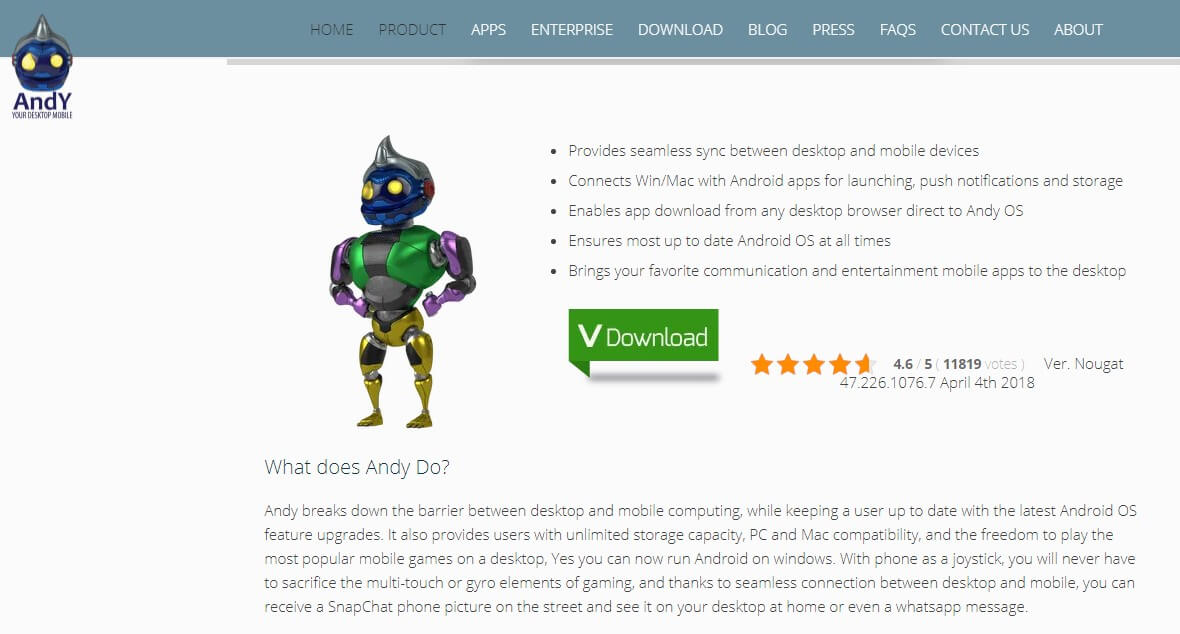 Andy Android Emulator