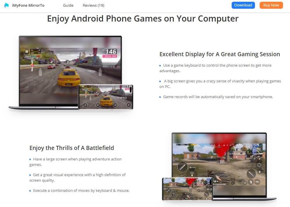 iMyFone MirrorTo to Play Fruit Ninja PC