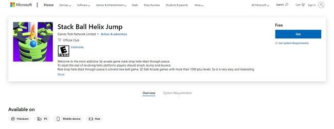 Microsoft Helix Jump on Windows PC