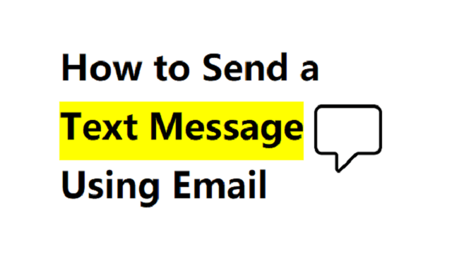 text through email
