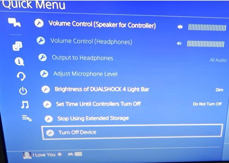 turn off ps4 controller
