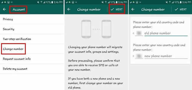 transfer whatsapp messages with new number