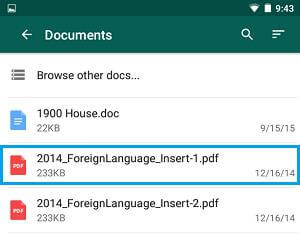whatsapp conversation pdf file from pdf android