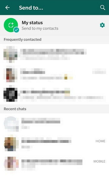whatsapp sharing contacts list