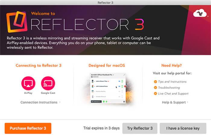 mirror iphone screen reflector