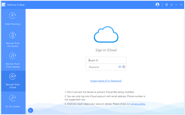 dback guide recover from icloud backup step 2