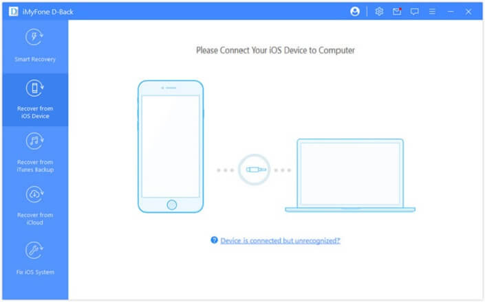 d back recover from ios device